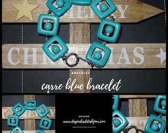 Square blue Bracelet