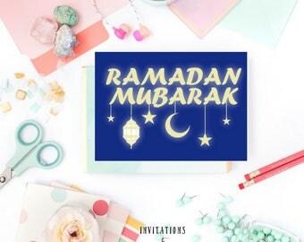 DIGITAL Card  Ramadan Mubarak Ramadan Cards Ramadan Greetings Greeting Cards Islamic cards Muslim Gasting Muslim Cards Ramadan Gift