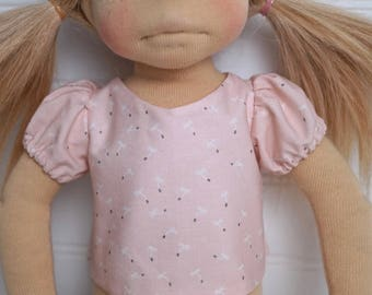 Pink dandelion DOLL SHIRT with sleeves
