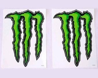monster energy stickers, 2 pieces, vinyl