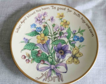 The Country Diary of an Edwardian Lady Limited Edition Plate  'April'  Bradex Davenport  Excellent condition