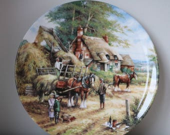 Boxed Wedgwood Country Days Plate Making the Hayrick  Limited Edition. Excellent condition