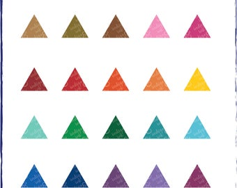 Triangles Shapes Digital Download Clipart