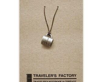 Traveler's Factory TF Charm Mug cap pattern 07100018 Traveler's Notebook  Midori Designphil Material Tin Free Shipping