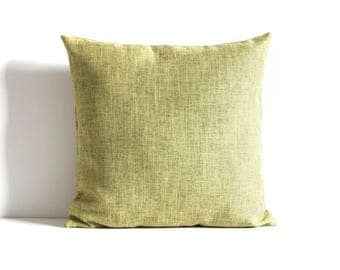 Green Throw Pillow, Green Pillow Cover Decorative Pillow Cover, Cushion Cover