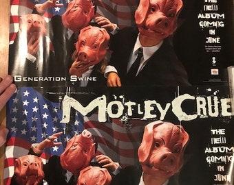 Motley Crue - Rare Generation Swine Posters - NEW!