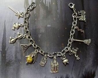 Harry Potter Stainless Steel Charm Bracelet
