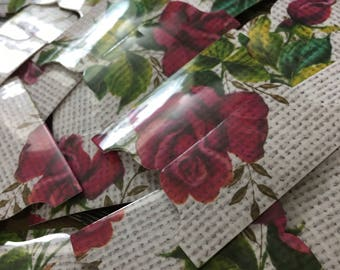 Linen Roses Bible Tab Pack (66 Tabs & Two Sheets Of 66 Labels)