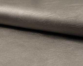 Leather Jersey taupe metallic vintage solid metre women's fabric elastic 1 meter