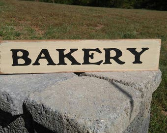 Bakery Sign, Wood Sign, Kitchen Decor, Farmhouse Kitchen Decor, Bakery Decor
