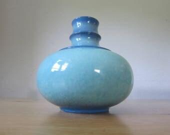 Jasba ceramic modern 70s turquoise blue pop art style vase 1166 / 18