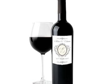 20 wine label for wedding favor