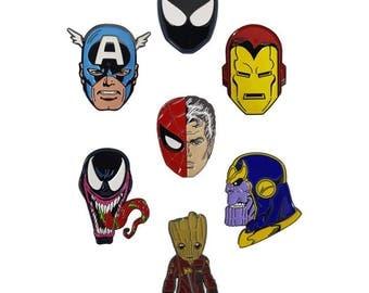Marvel retro Comic Book  enamel pin set!!!!!