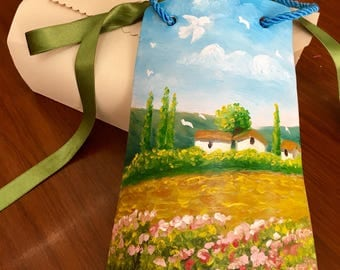 Hand painted Terracotta, gift him and her-Valentine's Day-Original oil hand Painting-Wall Decor Kitchen & Living Room-Favors