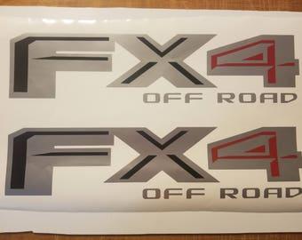 fx4 Off road Decal Sticker silverado truck chevrolet ford SET