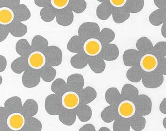 "Floral Fabric: Robert Kaufman Remix 108"" wide Cornsilk White 100% cotton Fabric by the yard  (RK60)"