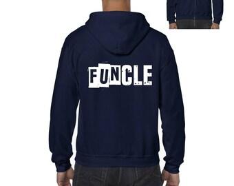 Family Hoodie Funcle  Full-Zip Men's Hoodie