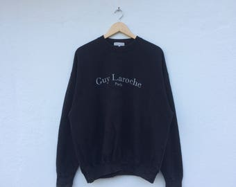 Vintage GUY LAROCHE Paris Embroidery Spellout Sweatshirt