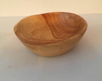 6.5 in Wet turned oak bowl