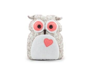 Owl Cushion Rose