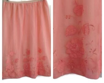 Fabulous Vintage Pink Gotham Lingerie Embroidered Slip