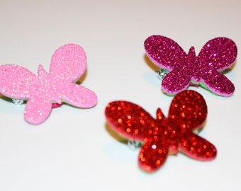 Glittery Butterfly brooch