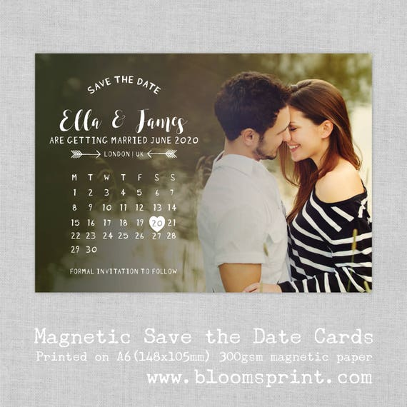 Save the date magnet photo, Wedding Save the Date Fridge Magnets, Photo Save our Date Magnets for Wedding, Save the Date Calendar,  A6