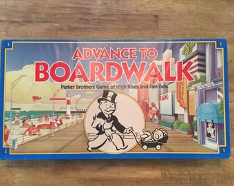 1985 Complete Advance to Boardwalk board game by Parker Brothers No0014