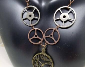 Tick Tock --- Steampunk Necklace
