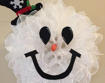 Snowman wreath (small version)