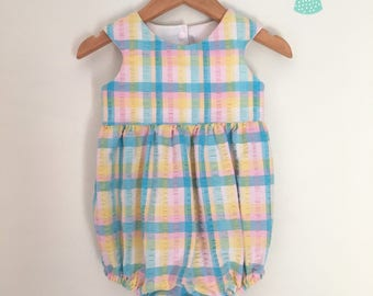 Size 1 Vintage upcycled romper playsuit