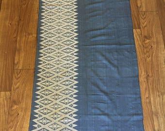 Thai Fabric/Thai Silk, Table Runner, Handwoven Hmong Hill tribe