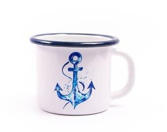 BiggDesignAnemoSS Anchor Enamel Mug