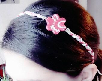 Headband hair accessory, pink, flower