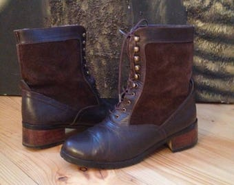 CRESTI brown leather boots -size 37 eur, 6.5 us, 4 uk.