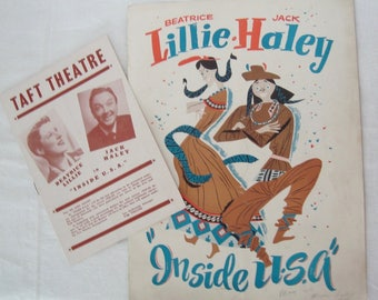 "May, 1949 Beatrice LILLIE & Jack HALEY ""Inside USA"" Taft Theatre Playbill and Theater Program Book"