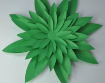 DIY flower kit  cardstock  flower kit  5 mini flower gamma green