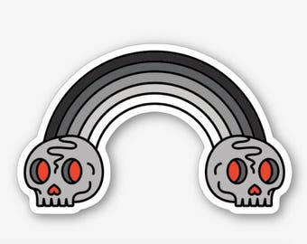 Dark Death Rainbow - Die Cut Sticker