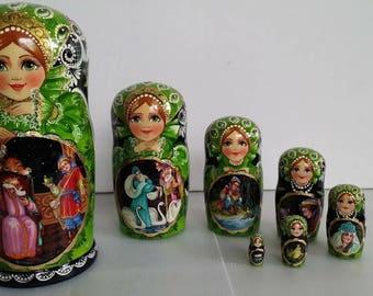 Russian doll, doll nesting matryoshka tale 7 PCs