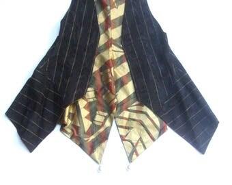 ZANDRA RHODES Avant Garde Pin Stripped Women's Vest