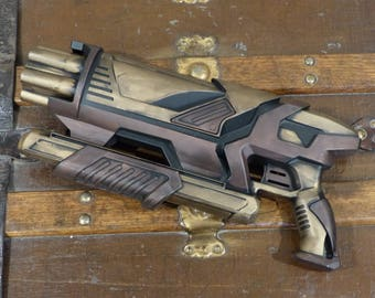 Steampunk Brass and Bronze Shot Gun Working Nerf Compatible Shotgun Blaster Toy Prop Costume Cosplay prop LARP Role Play Post Apocalyptic