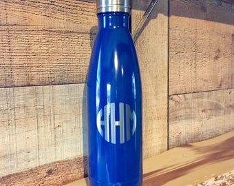 Powder Coated HOGG 17 oz. Bottle - Customized Stainless Steel Water Bottle - Laser Engraved Bottle - Custom Gifts