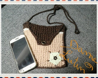 Small shoulder bag handmade