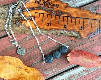 Essential oil diffuser necklace, lava stone diffuser necklace, lava bead necklace, lava beads, lava rock jewelry, lava rock necklace,