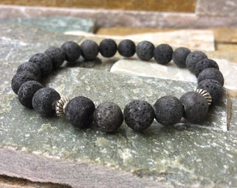Diffuser lava bracelet mala bracelet essential oil 8mm lava beads