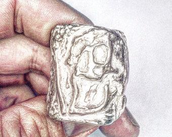 Mens Skull Ring, Skull Ring, Sterling Silver Skull Ring, Biker Ring, Rocker Ring , Biker Jewelry ,.925 ,Johnny Depp Jewelry  Lugdun Artisans