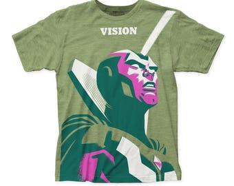 Michael Cho Vision Men's Soft Fitted 30/1 Cotton Tee (SUBCHO08) Heather Green