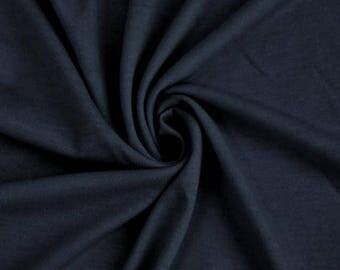 Navy French Terry Spandex Fabric by the yard RG2