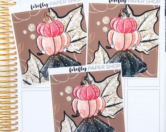 Pumpkin Spice Double Box (for Erin Condren Life Planner - Vertical)
