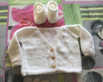 vest and booties newborn to 1 month